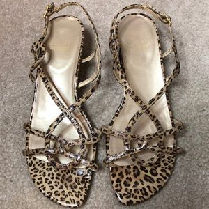 Stuart Weitzman animal print sandals